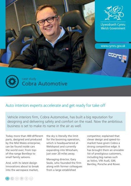 Cobra case study PDF - Business Wales