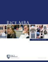 Rice - Jones Graduate School of Business - Jesse H. Jones ...
