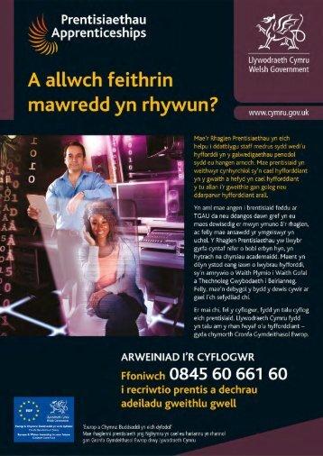 Lawrlwythwch daflen Cyflogwyr Prentisiaethau ... - Business Wales