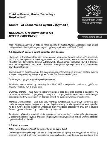 chanllawiau i'r Gronfa Twf - Business Wales