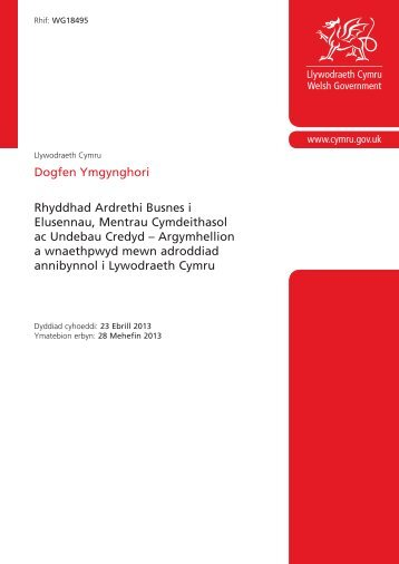adroddiad hwn - Business Wales - Welsh Assembly Government