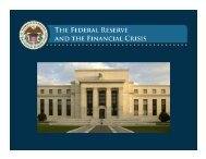 Lecture 3: The Federal Reserve's Response to the Financial Crisis