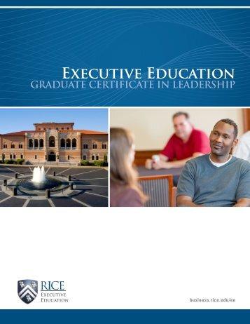 Executive Education - Jesse H. Jones Graduate School of ...
