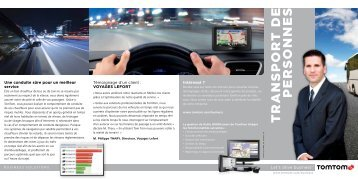 T R A N S P O R T DE P E R S O NNE S - TomTom Business Solutions