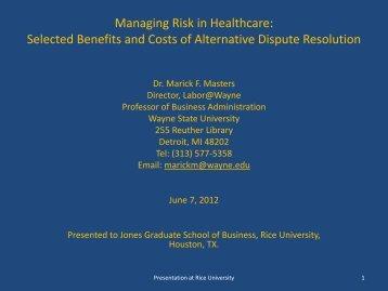 Arbitration - Jesse H. Jones Graduate School of Management - Rice ...