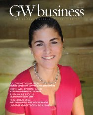 GWbusiness Magazine, Fall 2009 - School of Business - George ...