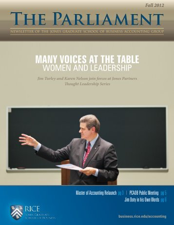 Fall 2012 - Jesse H. Jones Graduate School of Management - Rice ...