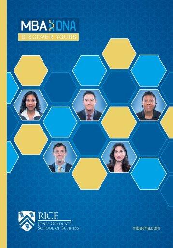 Download Brochure - Jesse H. Jones Graduate School of ...