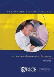 PDF brochure - Jesse H. Jones Graduate School of Management ...