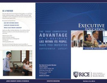 Executive - Jesse H. Jones Graduate School of Management - Rice ...