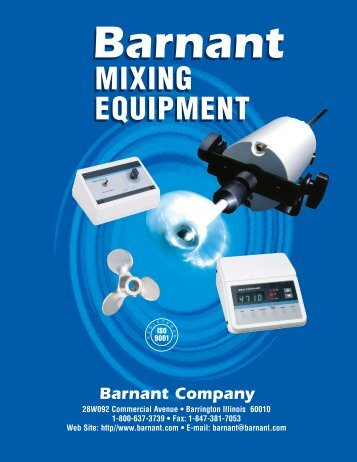 Barnant Mixers - Clarkson Laboratory and Supply