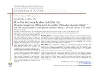 How the technical bodies build the city - Brussels Studies