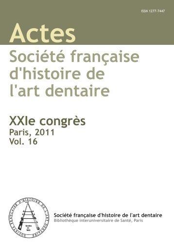Société française d'histoire de l'art dentaire - Bibliothèque ...