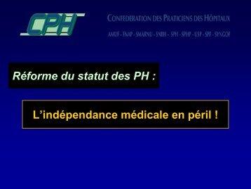 Diaporama CPH statut (PDF) - Confédération des Hôpitaux Généraux