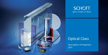 Schott Optical Glass Catalog - Glass Fab, Inc.