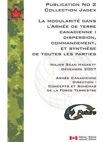 La modularite dans l'Armee de terre canadienne [pdf 1.6 MB]