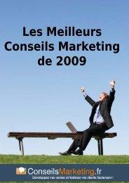 Les Meilleurs Conseils Marketing de 2009 - Comment gagner sur ...