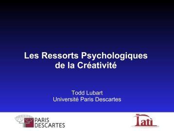 Les ressorts psychologiques de la créativité - BCGE