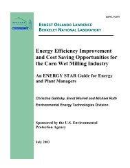 Wet Corn Milling Energy Guide - Energy Star