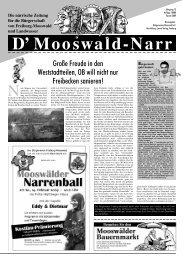 Lesen Sie dies und mehr in der Narrenzeitung 2009 - Bürgerverein ...