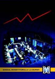 Ghidul Investitorului - Bursa de valori Bucure?ti