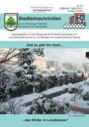 Stadtteilnachrichten Heft 43 - Bürgerverein Freiburg Mooswald eV