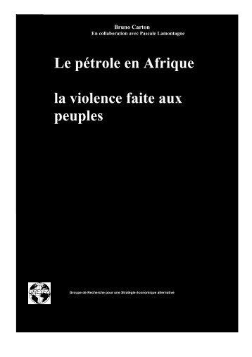 pétrole en Afrique - Gresea