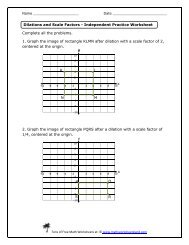 Dilations and Parallel Lines Independent Practice