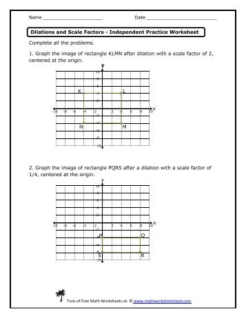 math worksheet : independent practice  math worksheets land : Dilation Math Worksheets