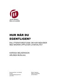 Migraine - Cuppsats.pdf - MUEP - Malmö högskola