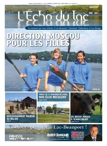 DIRECTION MOSCOU POUR LES FILLES - L'Écho du Lac