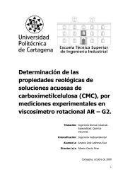 tablas de datos de las rampas de velocidad de carboximetil celulosa ...