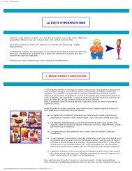 la diète hyperprotéinee - Bienvenue sur www.pharmadata.be, site ...