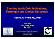 Stenting Adult CoA: Indications, Technique and Clinical ... - SBHCI