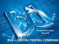 BSE as a Source of Capital for Companies - Bursa de valori Bucure?ti