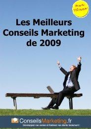 Les meilleurs conseils marketing 2009 - Matthieu