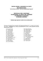 protocollo per l'assistenza in gravidanza, al parto - Regione Campania