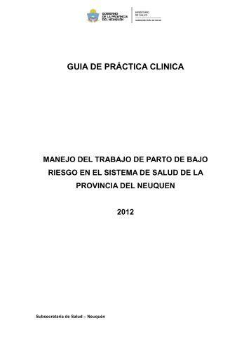 Manejo del trabajo de parto de bajo riesgo - Gobierno de la ...