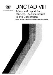 Analytical report by the UNCTAD secretariat to the