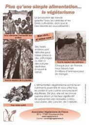 Tract Végétarisme 2 - Association Végétarienne de France