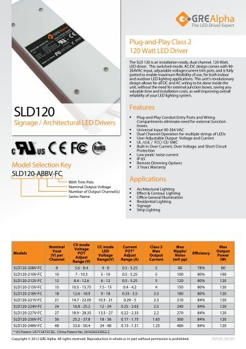Download SLD120 Datasheet - ERG Lighting  sc 1 st  Yumpu & 50 free Magazines from BUYERSGUIDE.PENNWELL.COM azcodes.com