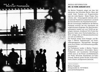 MEDIA-INFORMATION NR. 58 VOM JANUAR 2010 - Runze & Casper
