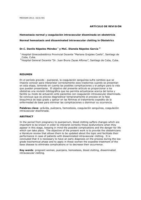 Diseminada coagulacion pdf intravascular