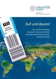 Auf und davon! - Internationale Austauschprogramme - Universität ...