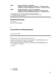 Kauffrau/Kaufmann Systematik der Prüfungselemente