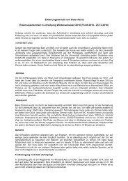 Erfahrungsbericht von Peter Recla - Universität Wien