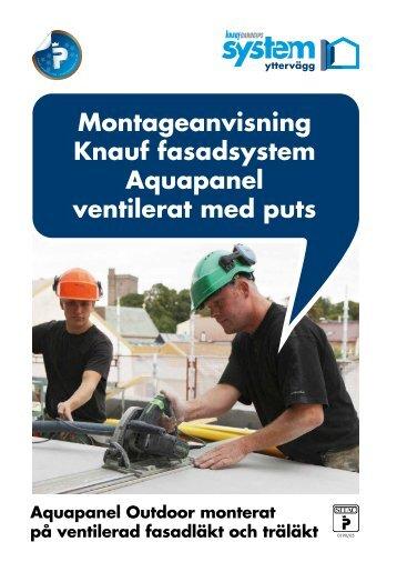Aquapanel Outdoor monterad på enkel träläkt - Knauf Danogips