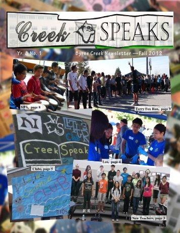 Fall newsletter PRINT 2012-2013.pub - Byrne Creek Secondary