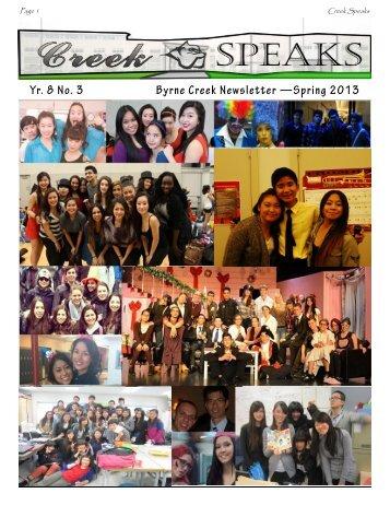 Newsletter Spring Edition 2013.pub - Byrne Creek Secondary