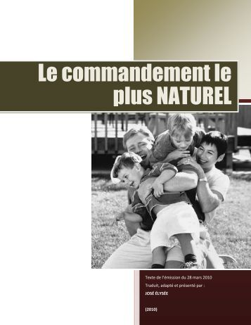 Le commandement le plus NATUREL - Le site de Richard Lemay